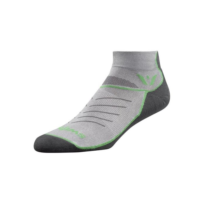 Swiftwick Vibe Zero Sock Pewter/Green/Grey XL
