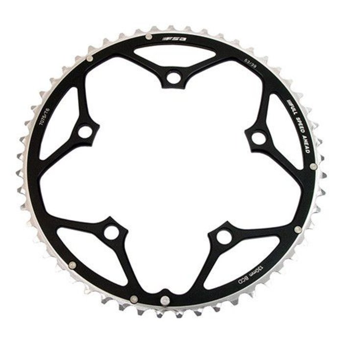 FSA Pro Road 10 speed 52t 130mm Black Chainring (use w/39t)