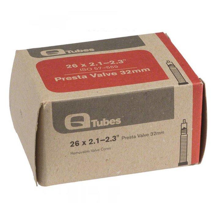 """Q-Tubes 26"""" x 2.1-2.3"""" 32mm Presta Valve Tube 202g"""