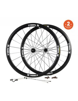 Noble Cycling Noble Cycling - Everest wheels - 700c- 28mm wide carbon road bike wheels