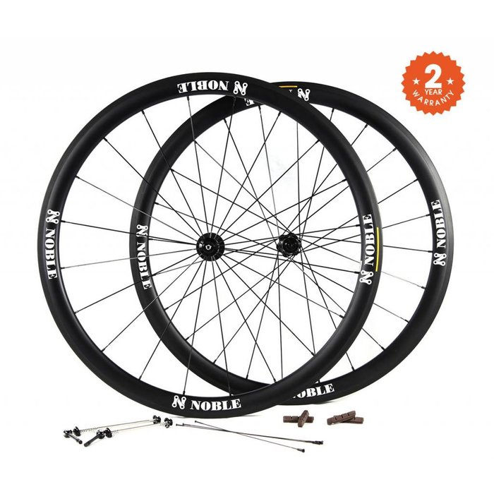 Noble Cycling - Everest wheels - 700c- 28mm wide carbon road bike wheels