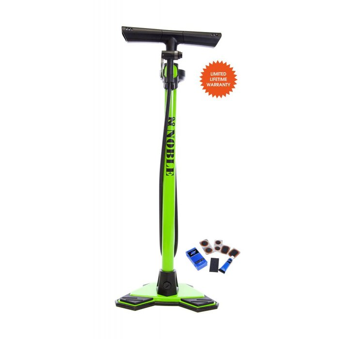 Noble Cycling Elite Floor Pump Green