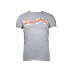 Noble Cycling Noble Cycling Striped Mountain Tee Grey