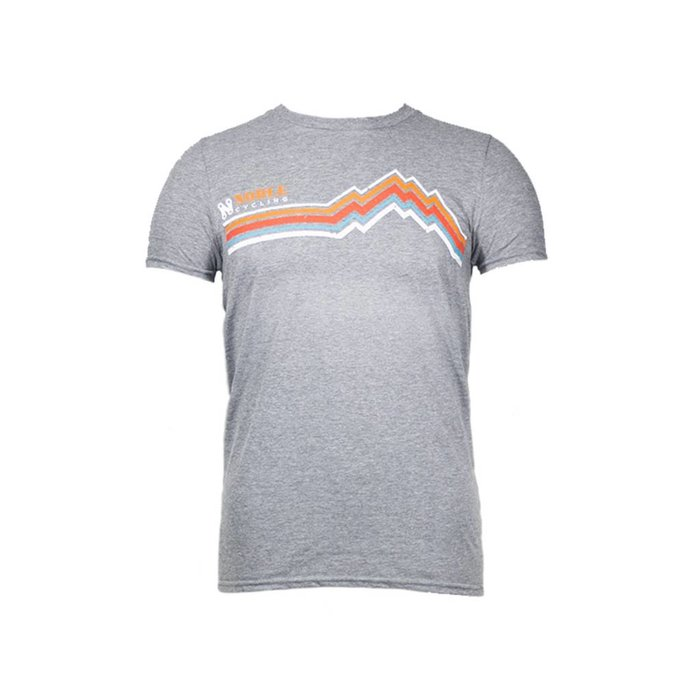 Noble Cycling Striped Mountain Tee Grey