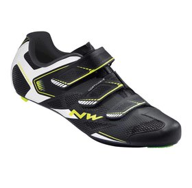 Northwave Northwave, Sonic 2, Road shoes, Black/White/Yellow Fluo, 46