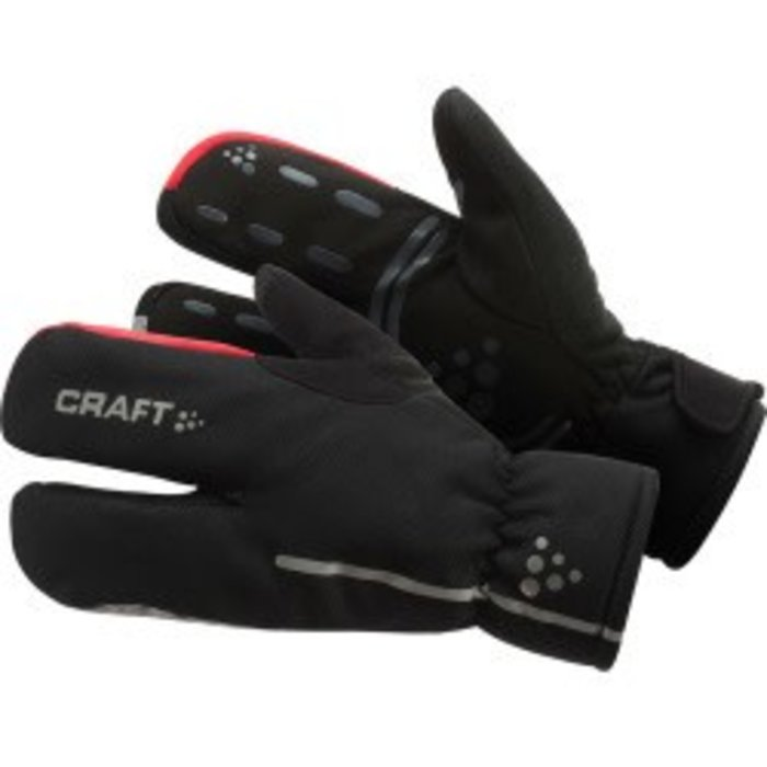 Craft Siberian Split Finger Glove: Black LG