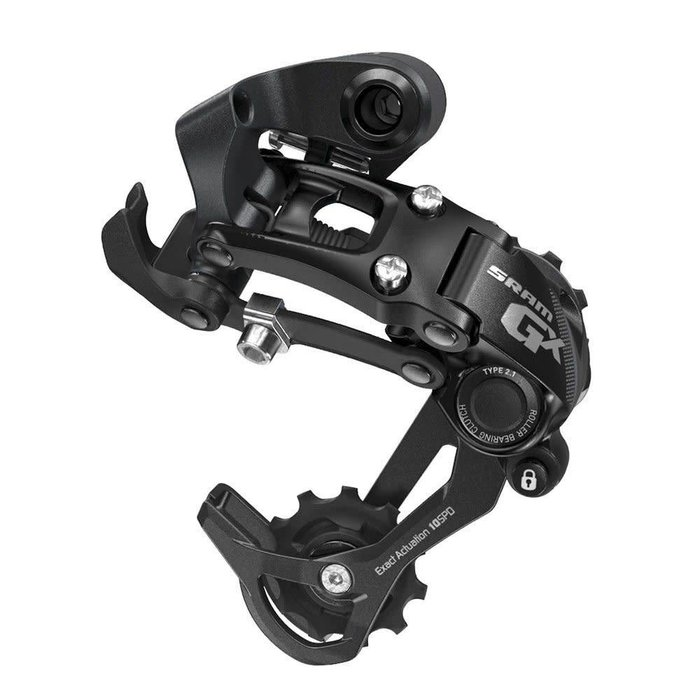 SRAM GX Type 2.1 Bicycle Rear Derailleur with 10 Speed Long Cage, Black