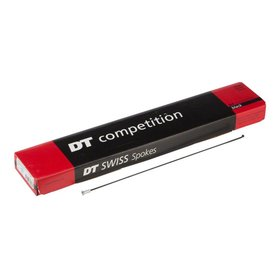 DT Swiss DT Swiss, Box of 72 Competition Black spokes, 2.0/1.8mm, With nipples, 262mm