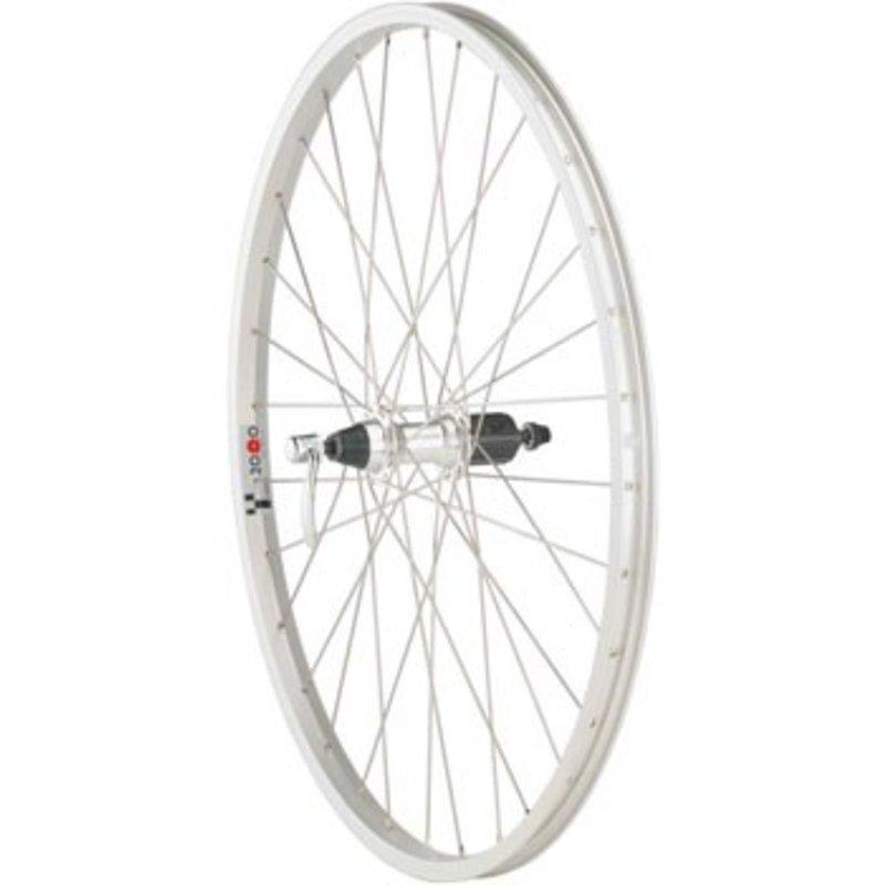 """Quality Wheels Quality Wheels Value Series 1 Mountain Rear Wheel 26"""" Formula 135mm Freehub / Alex Y2000 Silver"""