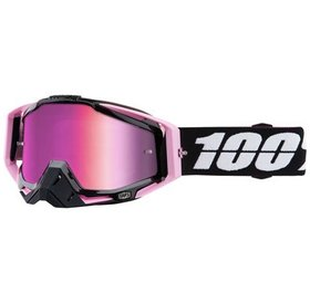 100% 100% Racecraft Goggle: Floyd with Mirror Pink Lens, Spare Clear Lens Included