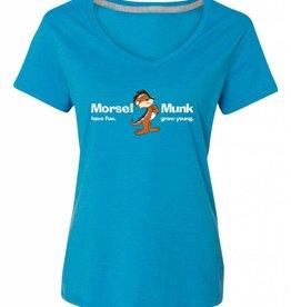 Morsel Munk HFGY Blue V-Neck T-Shirt