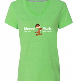 Morsel Munk HFGY Green V-Neck T-Shirt
