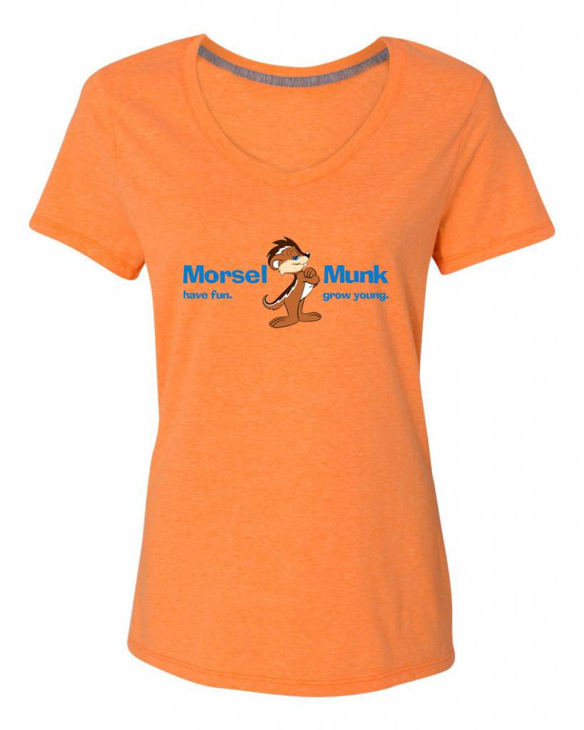 Morsel Munk HFGY Orange V-Neck T-Shirt