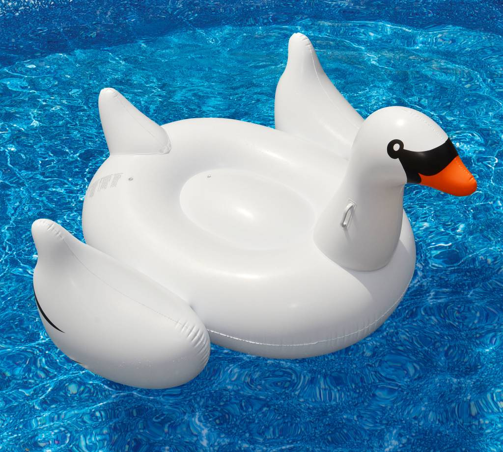 Charming Solstice / Swimline SOLSTICE Inflatable Swan Pool And Lake Float
