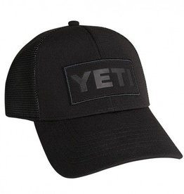 YETI YETI Black on Black Patch Trucker Hat