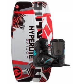 Hyperlite Hyperlite Motive w/Remix L/XL Youth Wakeboard Package 2017