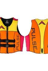 Pulse/Diversco Women's Neoprene Life Vest - Pink/Orange/Yellow