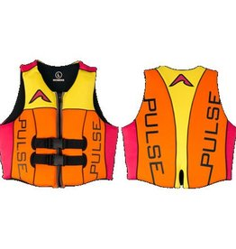Pulse/Diversco Women's Neoprene Life Vest - Pink/Orange/Yellow