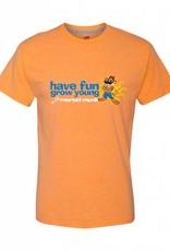 Morsel Munk Have Fun Grow Young Tee - Orange