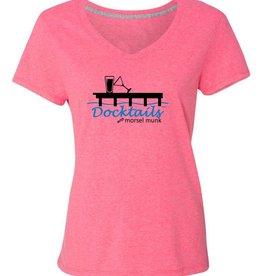 Morsel Munk Docktails Women's T-Shirt - Pink