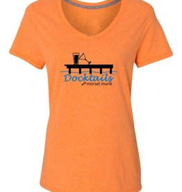 Morsel Munk Docktails Women's T-Shirt - Orange