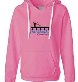 Morsel Munk Docktails Women's Pink Pullover Hoodie