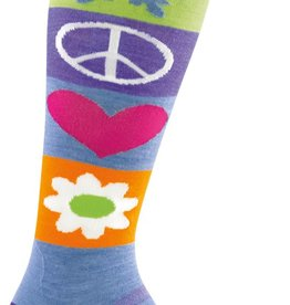 Darn Tough Vermont Peace Love Snow OTC Cushion Ski Sock