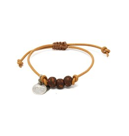 Simbi Haiti Simbi PipeLine Vegan Leather Cord Bracelet