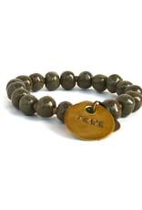 Simbi Haiti Simbi Olive Crush Clay Beads Bracelet