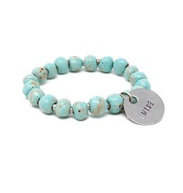 Simbi Haiti Simbi Glaze Seafoam Clay Beads Bracelet