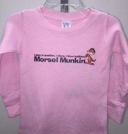 Morsel Munk Morsel Munkin' Toddler Girl's Pink Longsleeve Waffle Shirt