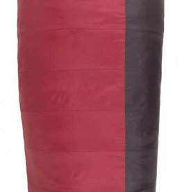 Big Agnes Encampment Synthetic Sleeping Bag - Regular Right Rectangular Mateable; Pad Sleeve; Purple/Red