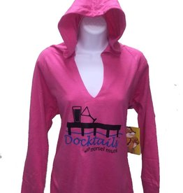 Docktails Docktails Women's Lightweight Boxer Hoodie Pink