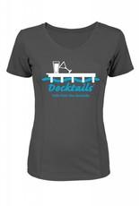 Morsel Munk Docktails T-Shirt Womens Charcoal