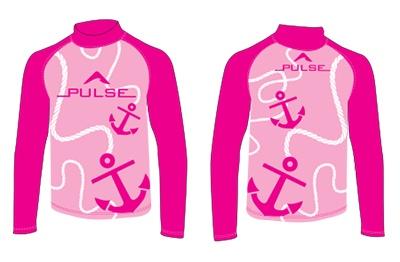 Pulse/Diversco Pulse Children's Rashguard Pink