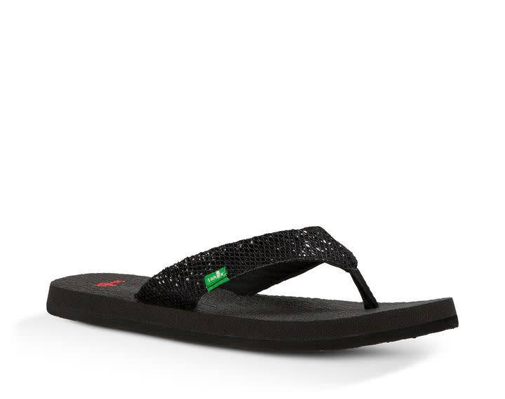 Sanuk SANUK Youth Yoga Glitter Black