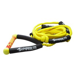 HYPERLITE 20' Wakesurf Rope Yellow  W/Handle