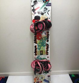 CONSIGN Men's Crispy Whips Snowboard 154cm w/ Burton Cartel Bindings
