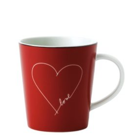 ED by Ellen Degeneres ED - Signature White Heart Mug 475ml