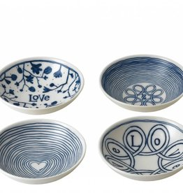 "ED by Ellen Degeneres ED - Ellen Degeneres Blue Love Bowl 5.5"" Set/4 Mixed"