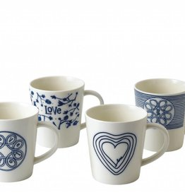 ED by Ellen Degeneres ED - Blue Love Tasse Ensemble/4 Mixtes