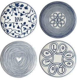 "ED by Ellen Degeneres ED - Blue Love Assiette 8"" Ensemble/4 Mixtes"