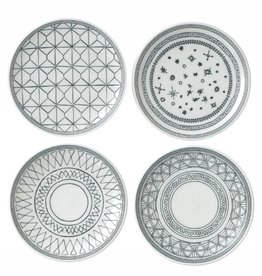 "ED by Ellen Degeneres ED - Ellen Degeneres  Charcoal Grey Plate 6"" Set/4 Mixed"