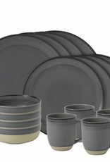 ED by Ellen Degeneres ED - Ellen Degeneres Grey Brushed Glaze 16 Piece Set