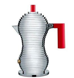 Alessi Alessi - Pulcina 6 Cup Red Espresso Maker