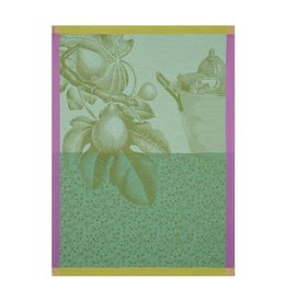 Le Jacquard Français Le Jacquard Français - Tea towel Fruits du verger Green 60x80