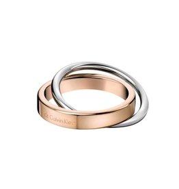 Calvin Klein Calvin Klein - Two-tone steel/gold plate Coil Ring