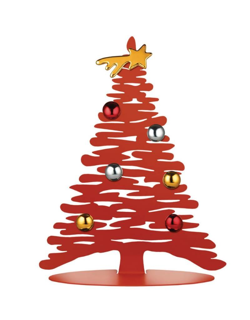 Alessi Alessi - Bark Christmas Tree in Steel Red