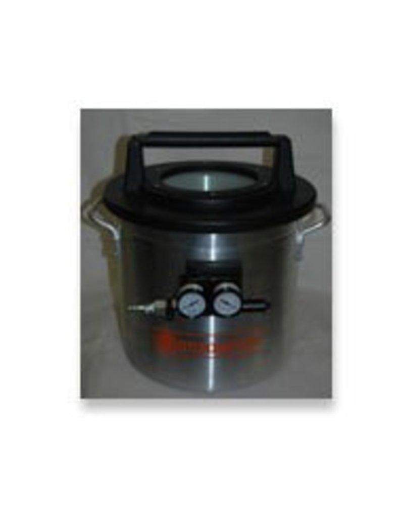 1 1/4 Gallon Vacuum Chamber With Venturi Pump (Requires Air Compressor)