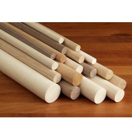 1/4'' Wooden Dowel Blue